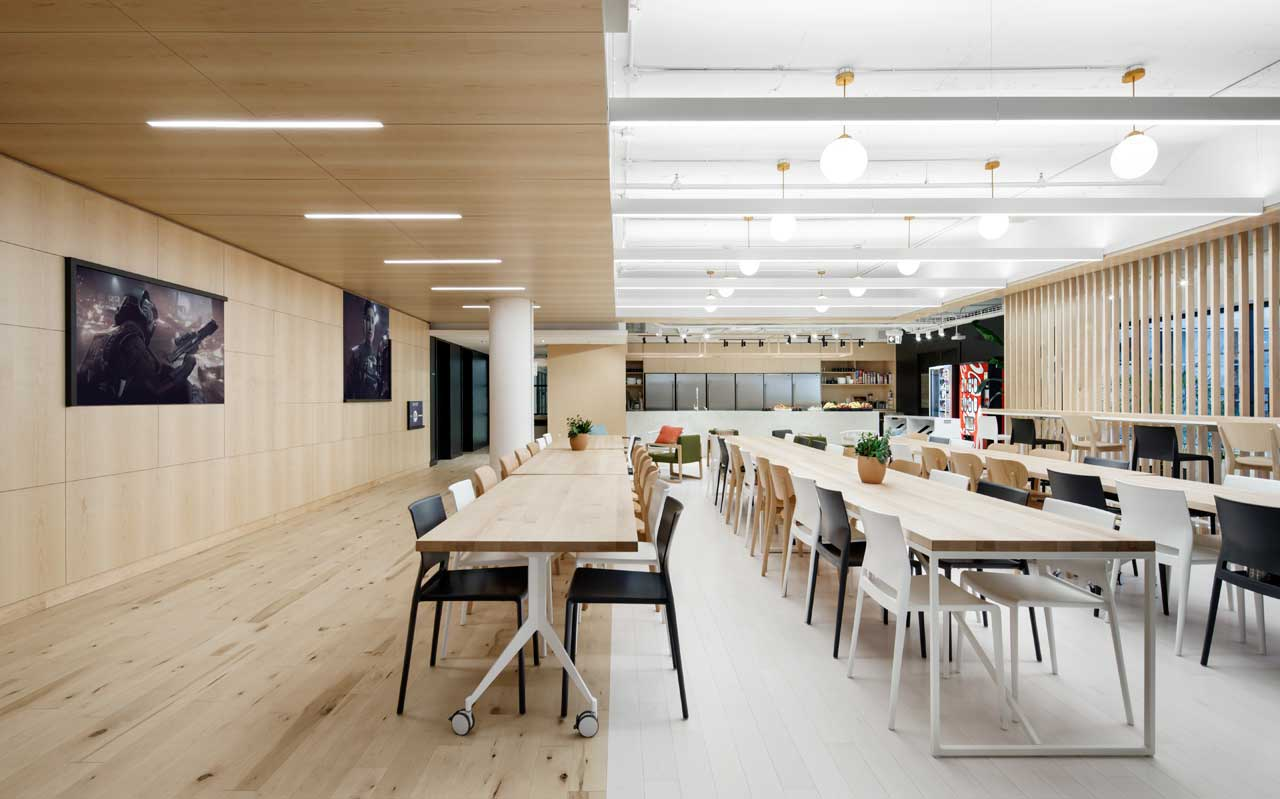 Electronic arts gets a new office space in montr al for Office design instagram
