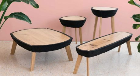 The Fikra Tables Are Made Using Recycled Rubber Crumbs