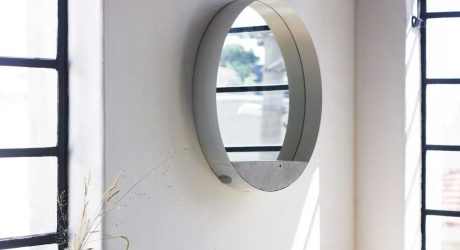 A Wall Mirror Composed of Three Materials and an Unusual Structure by Estúdio Parrado
