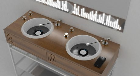 Olympia Ceramica Introduces Vinyl Inspired Bathroom Sinks by Gianluca Paludi