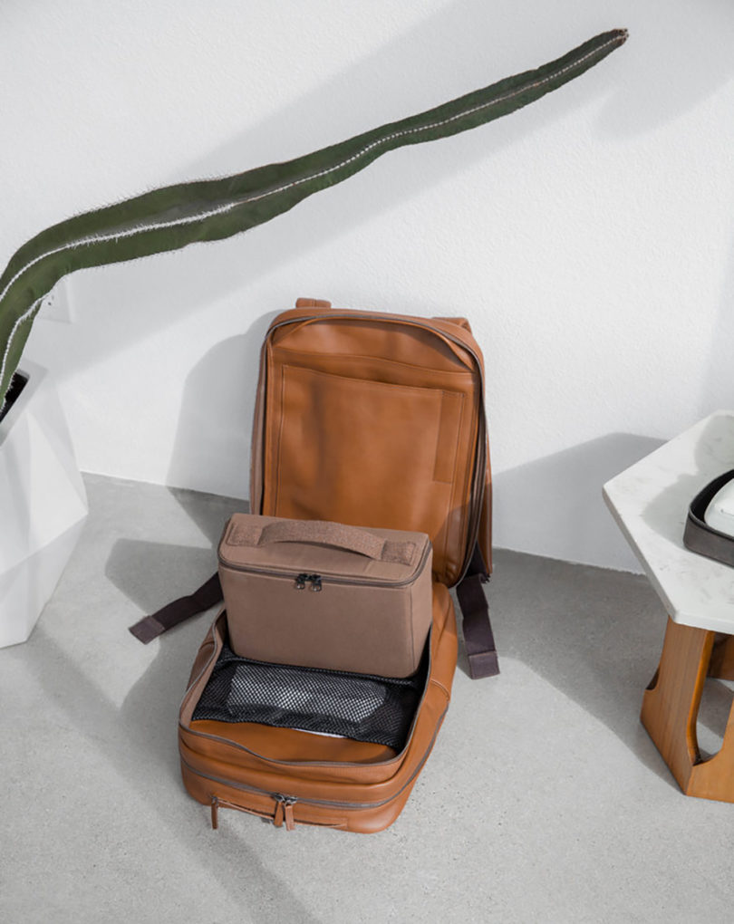 90e763d87bc From the exterior, the luxuriously soft vegetable tanned Tuscan leather  backpack leaves a deceptively minimalist and simple impression.