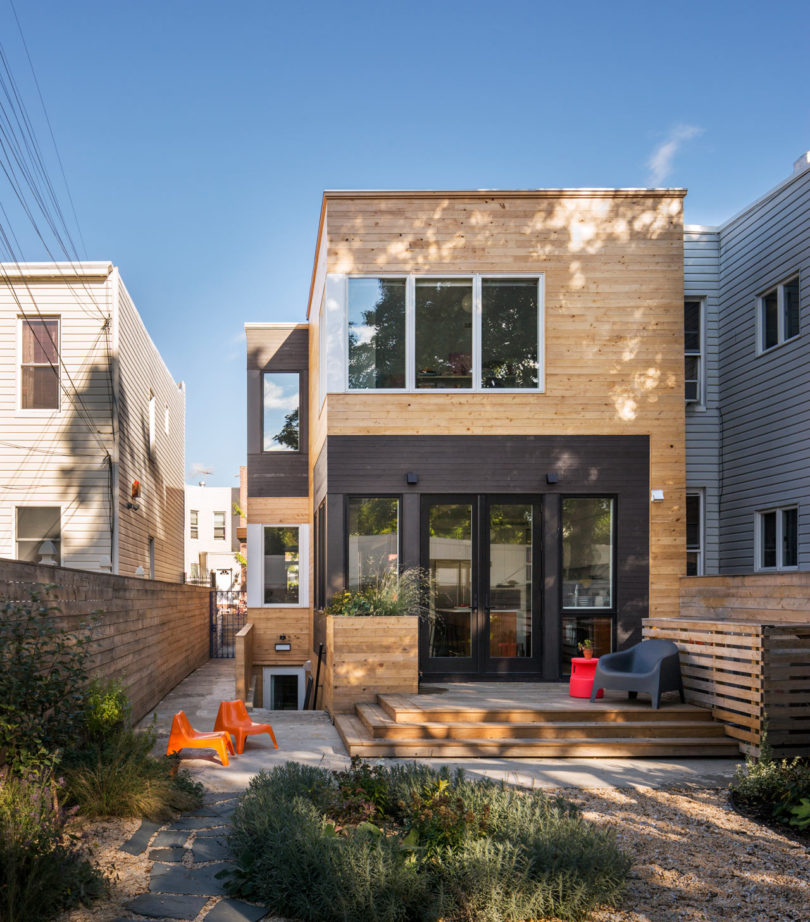 A Wood Frame Townhouse in Brooklyn That's Only 20 Feet Wide by BFDO Architects