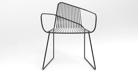 Bright Potato's ArNO Wireframe Chair Features Expressive Lines