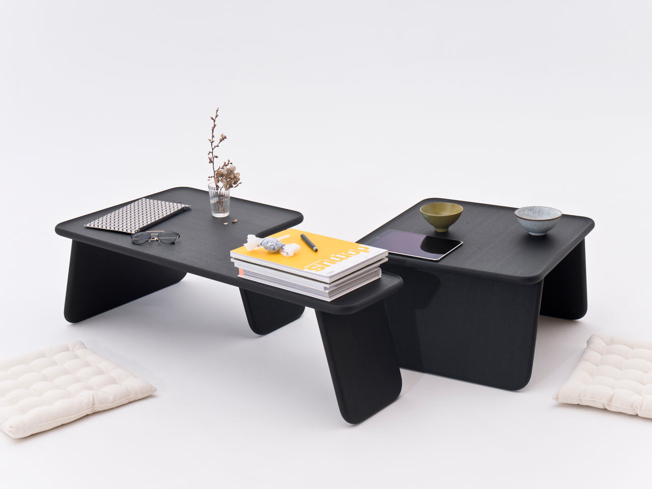 Bento Tray: Low, Stacking Tables Inspired by Asian Floor Culture
