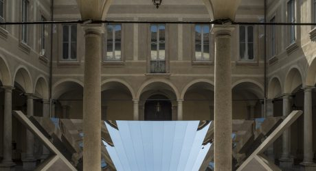 COS and Phillip K. Smith III Unfold the Milanese Sky in a Reflective Mirror Installation