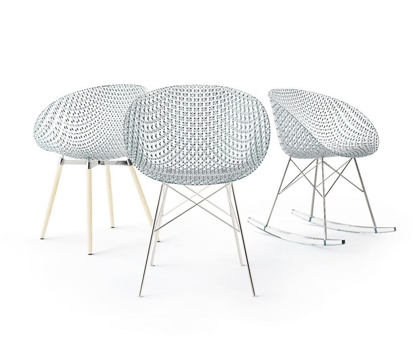 Tokujin Yoshioka Reveals Transparent 3D Printed MATRIX Chair for Kartell