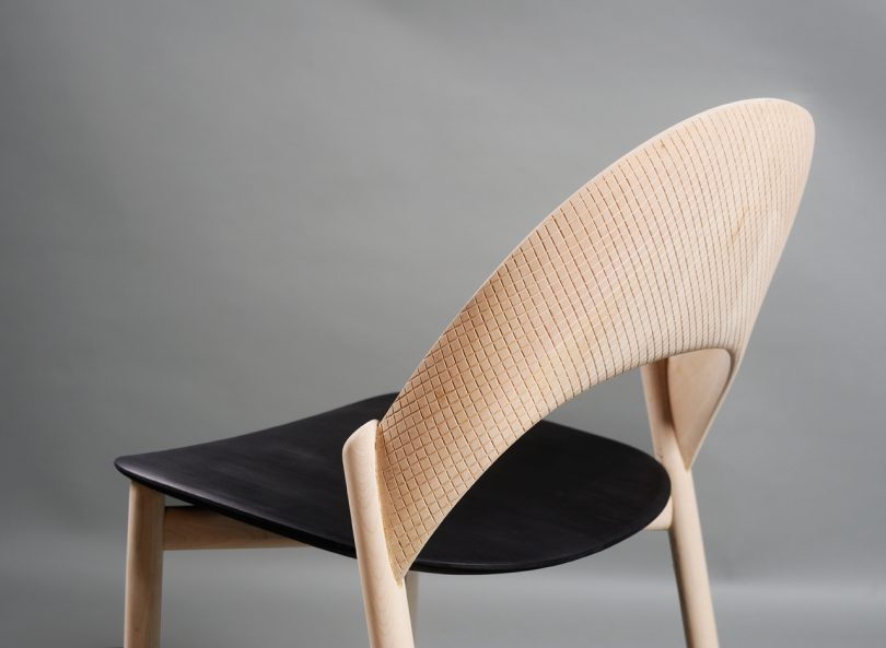 The Solid Wood Sana Dining Chair Will Hug You While You Sit
