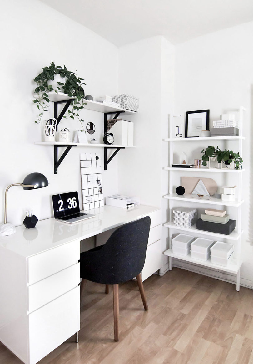Black and white office design Full Photo Courtesy Of Homey Oh My Lushome 10 Modern Home Offices That Will Make You Want To Get Sht Done