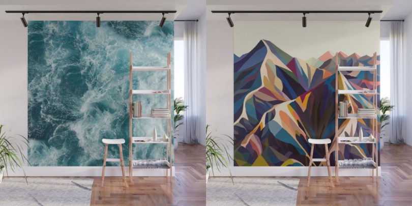Give Your Home a Bold Accent Wall with Society6?s New Peel + Stick Wall Murals