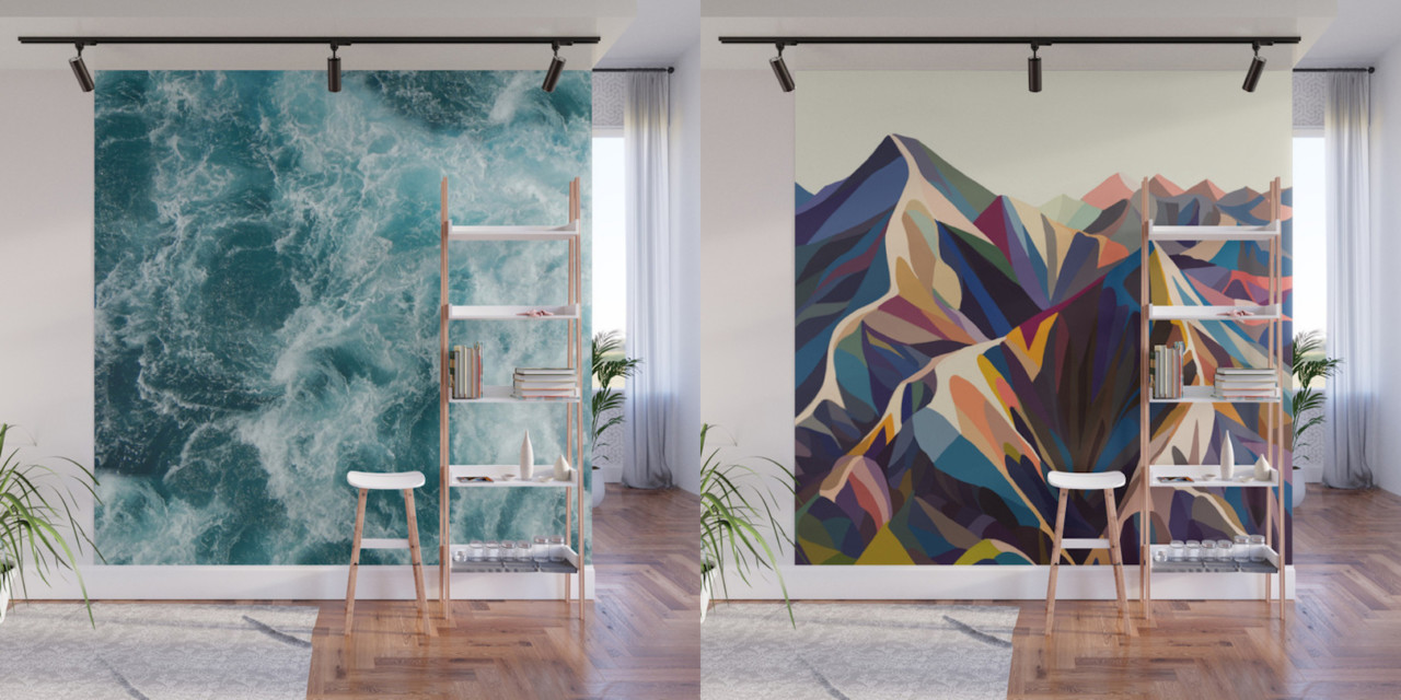 Give Your Home a Bold Accent Wall with Society6s New Peel Stick