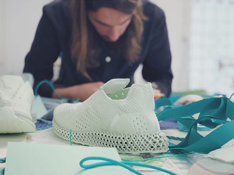 new product cf391 d68ef A pair of Daniel Arsham Adidas Futurecraft 4D and Adidas EQT basketball  sneakers are used as the foundation components for Studio Hagels hi-top  remix.