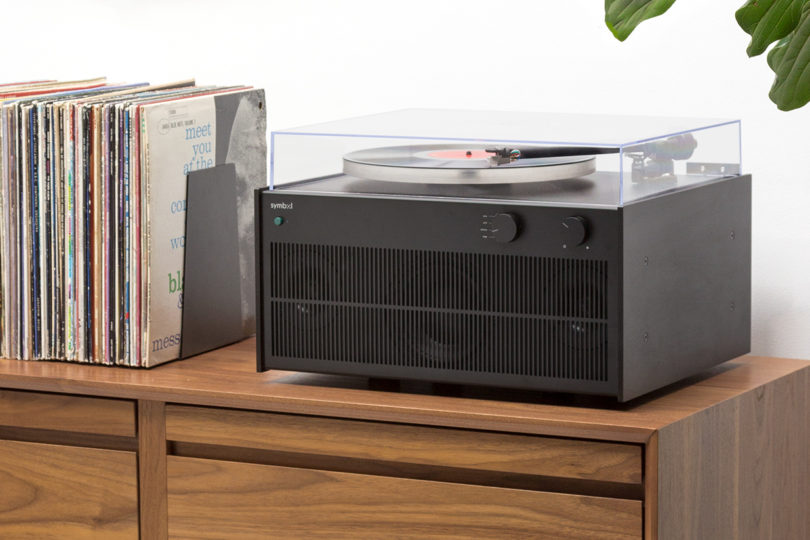 Symbol Audio Modern Record Player Places Sound On A Pedestal