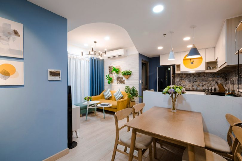 Toki Home Transforms an Apartment in Vietnam with Color