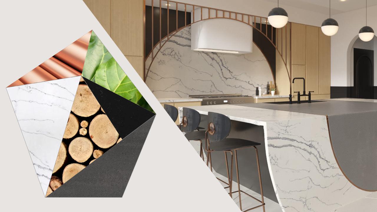 Bobby Berk Designs a Modern Art Deco + Scandinavian Kitchen