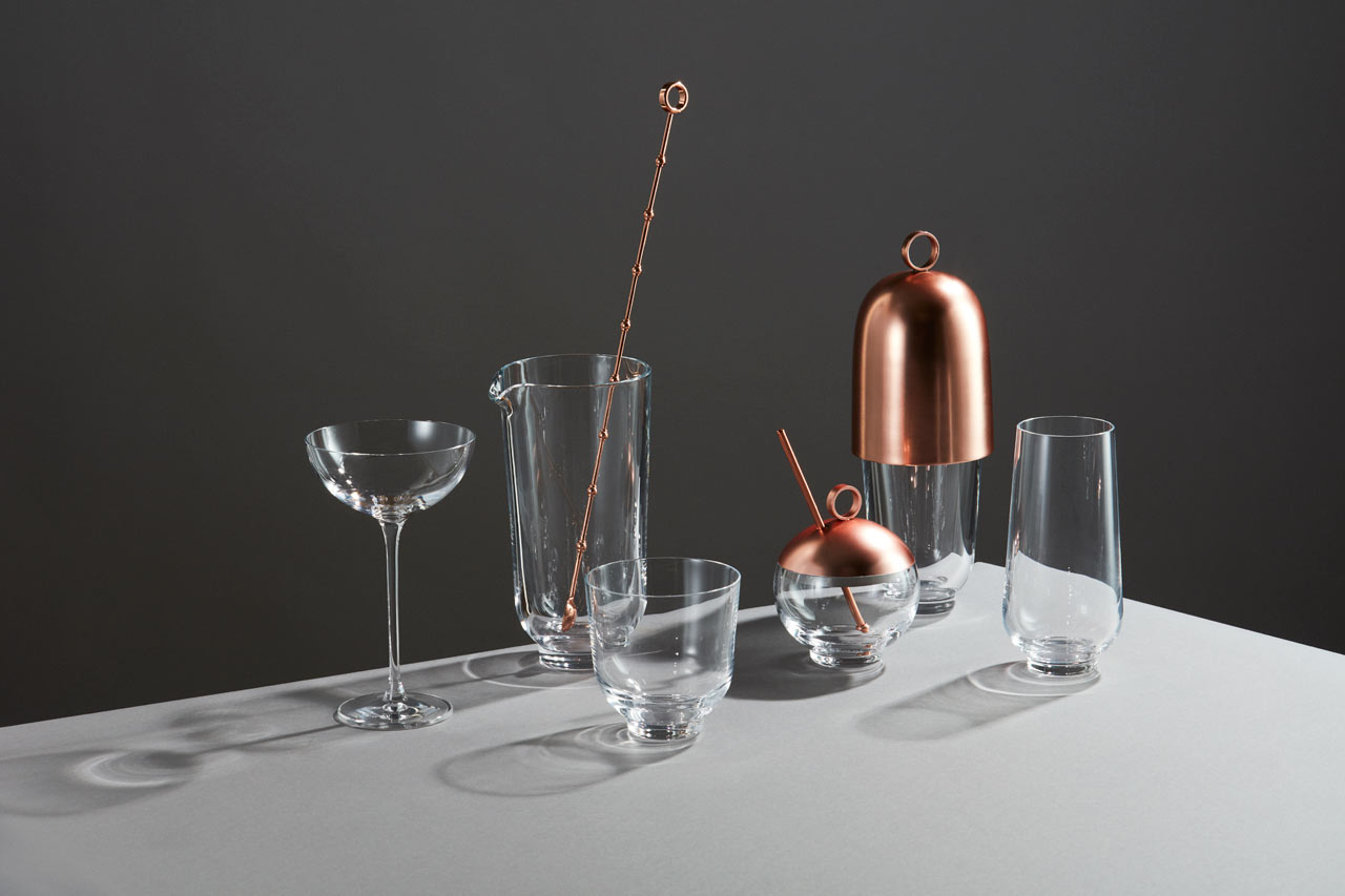 Hepburn Mixology Collection by Brad Ascalon for Nude Glass
