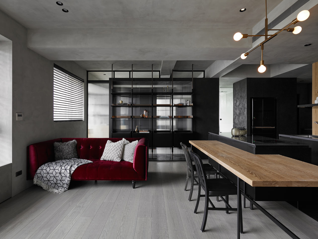 KC Design Studio Designs a Moody Black Apartment for a ...