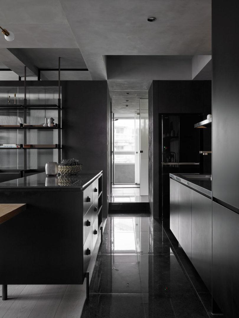 Kc Design Studio Designs A Moody Black Apartment For A Single Person