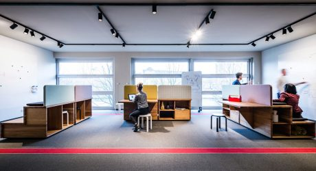 A Flexible Workshop and Lounge for the Volkswagen Group's Carmeq