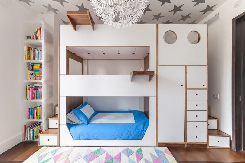Casa Kids Designed a Triple Bunk Bed Packed with Storage for Kids