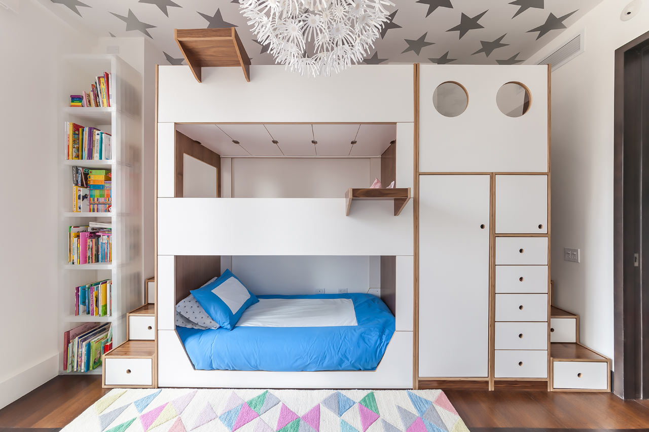 Casa Kids Designed A Triple Bunk Bed Packed With Storage