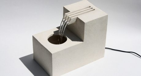 The Architectural Ceramic Comb Fountain by Lily Clark