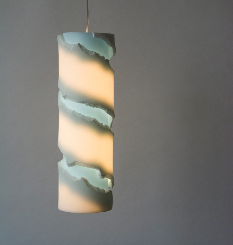 Studio Floris Wubben Creates the Crystal Twist Lighting Collection Out of Acrylic Stone