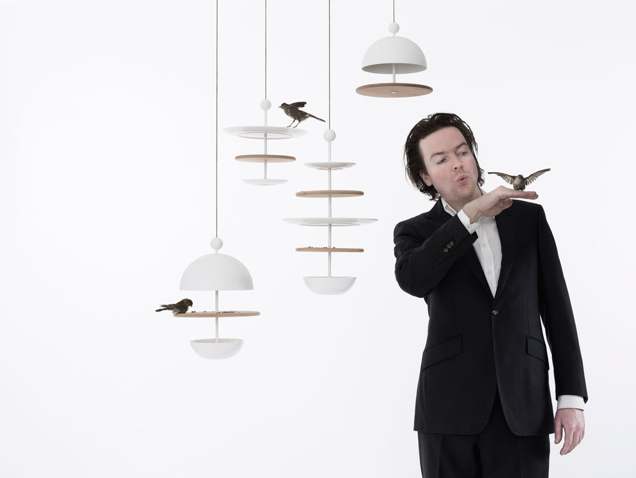 Frederik Roijé's Dish of Desire Bird Feeders Are Designed for Birds to Feast