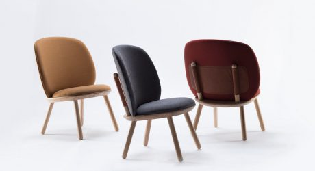 The Naïve Low Chair Comes Flat Packed and Screws Together