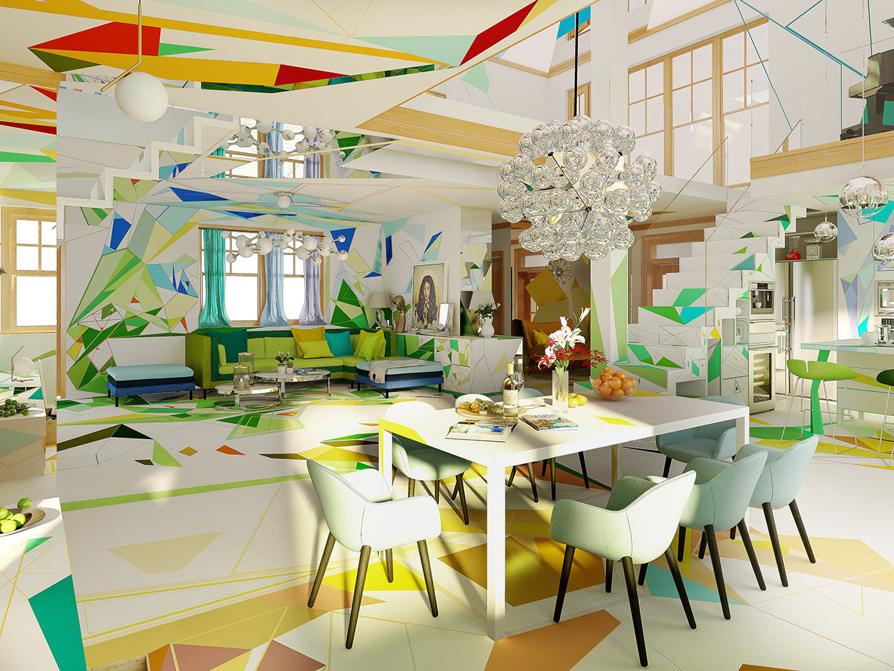 A Colorful, Geometric Wonderland That Might Feel Like You've Jumped Inside a Kaleidoscope