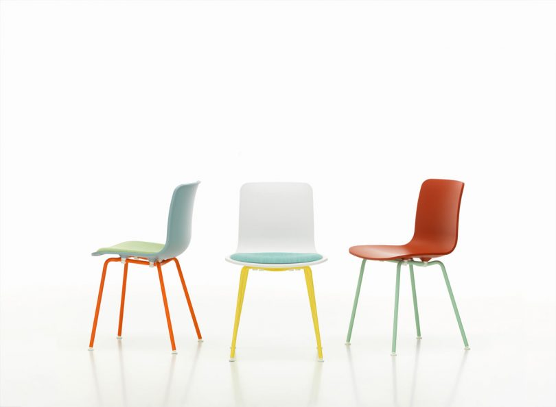 Refresh Your Patio Dining Set with Vitra's HAL Colour Tube Chairs by Jasper Morrison