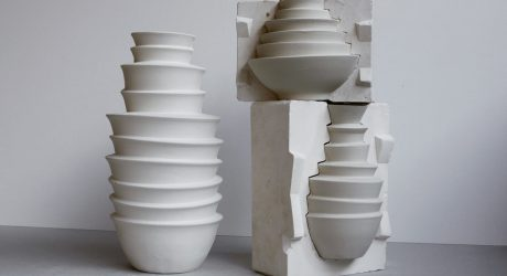 Sylvie Godel Creates Stacked Vases From Bowls Found in China