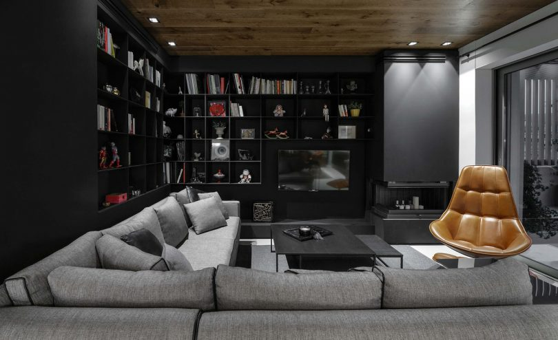 A 1970's Apartment in Greece is Renovated with a Black and Grey Color Palette