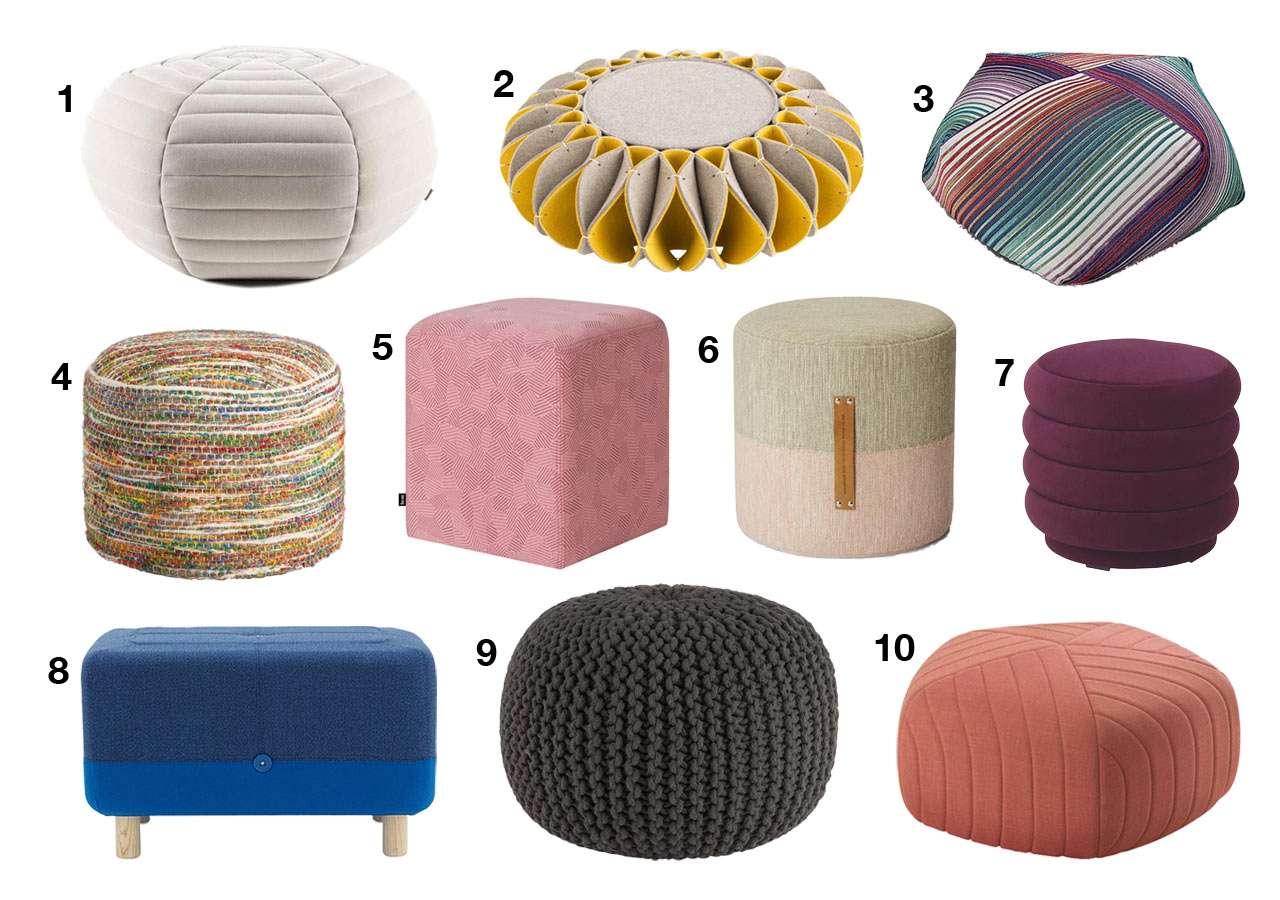 10 Modern Poufs That Will Have Your Feet Propped up for Maximum Relaxation in No Time