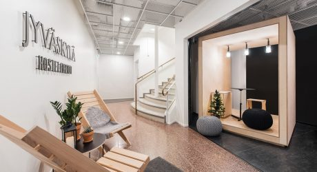 From Bank to Modern Hostel in Jyväskylä, Finland