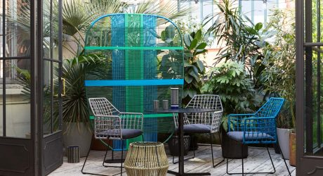 Colorful, Woven Outdoor Furnishings from Saba Italia