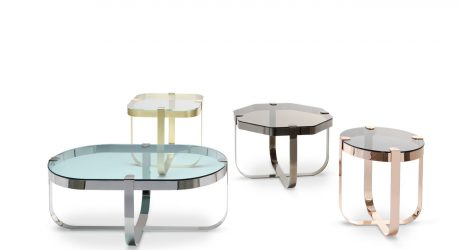 Ring Accent Tables Inspired by Raw Cut Precious Stones