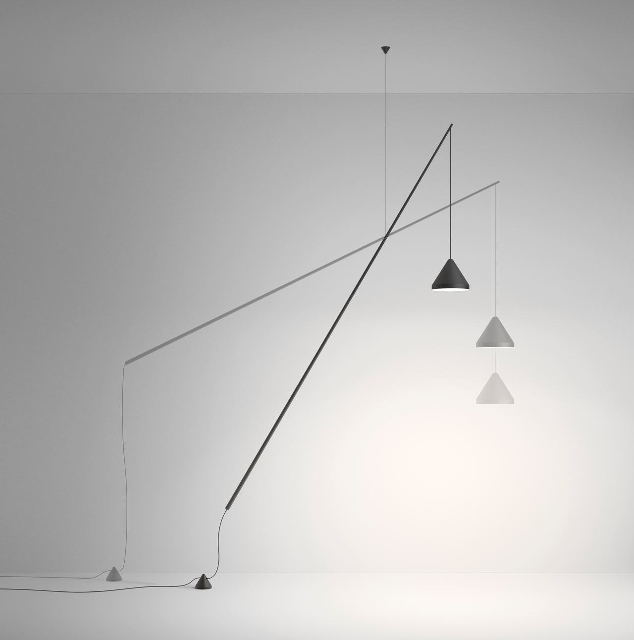 Vibia's North Floor-Pendant by Arik Levy Opens a New Category of Lamps