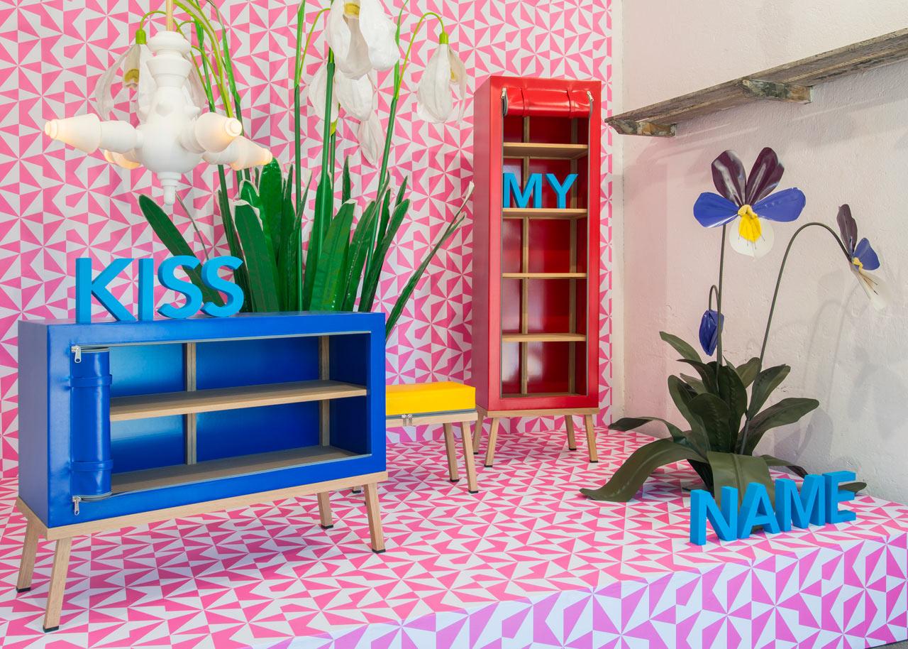 Truecolors: Bright and Colorful Zip-Up Furniture by Visser en Meijwaard