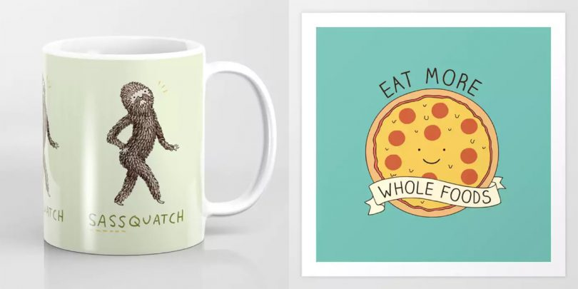 Society6 Keeps It Real Punny