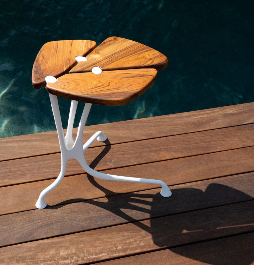 Lapis Side Table by Alexander Purcell Rodrigues for Link Outdoor