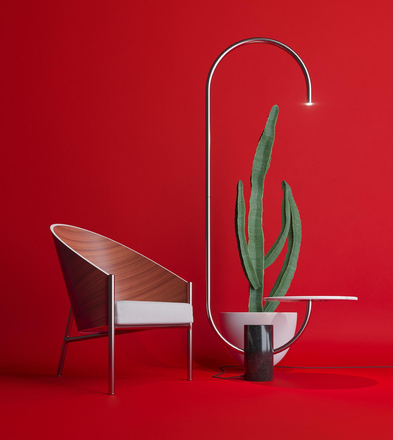 Bijou Lamp + Table by Sergey Makhno Architects