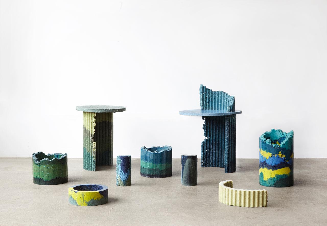 Charlotte Kidger Creates 3D Objects Out of Polyurethane Foam Dust