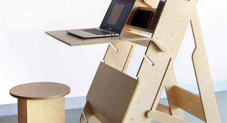 DESKter Sit & Stand Workstation by Malgorzata Wojtyczka