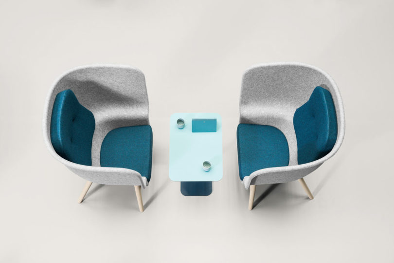 The Pod PET Felt Privacy Chair Is Perfect For Offices When An Employee  Needs A Bit Of Privacy To Work Or Take A Call. The Tall, Wrapped Sides  Envelop The ...