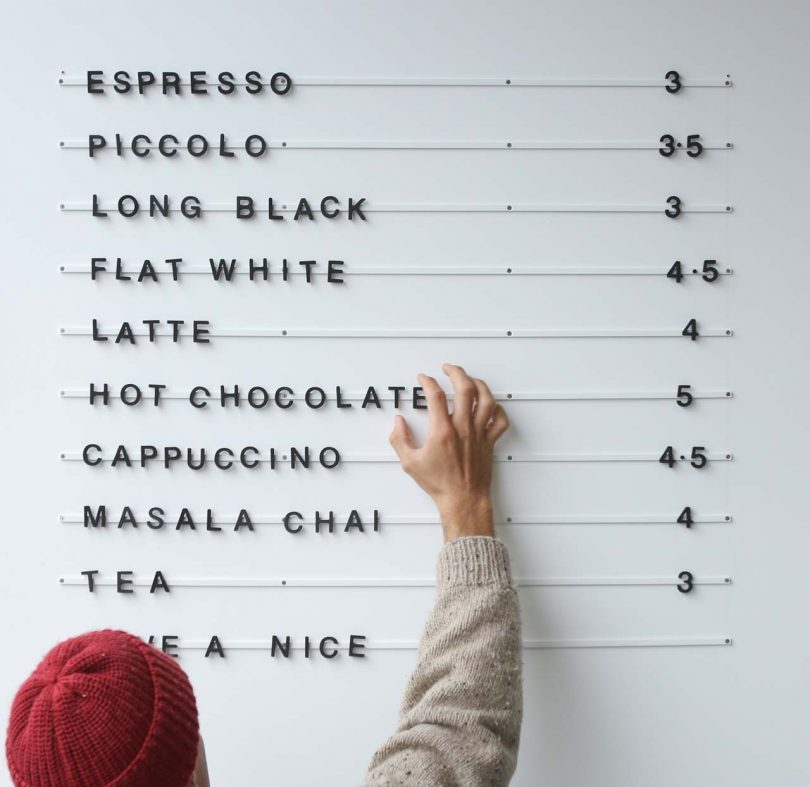 The Wall-Mounted Baker Menu Lets You Get Creative with Words