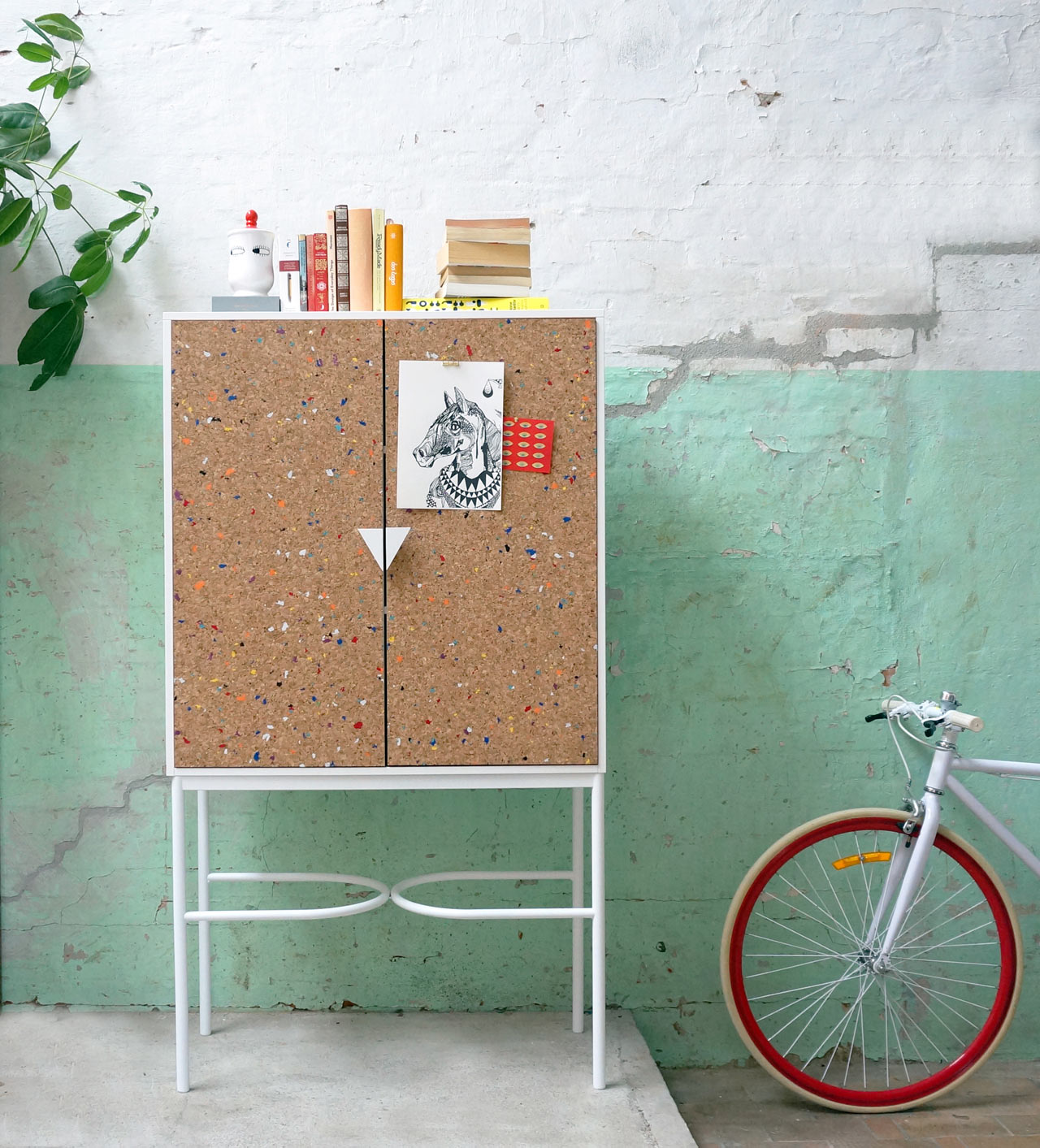 A Notebook-Inspired Cabinet and Bench by Swedish Ninja