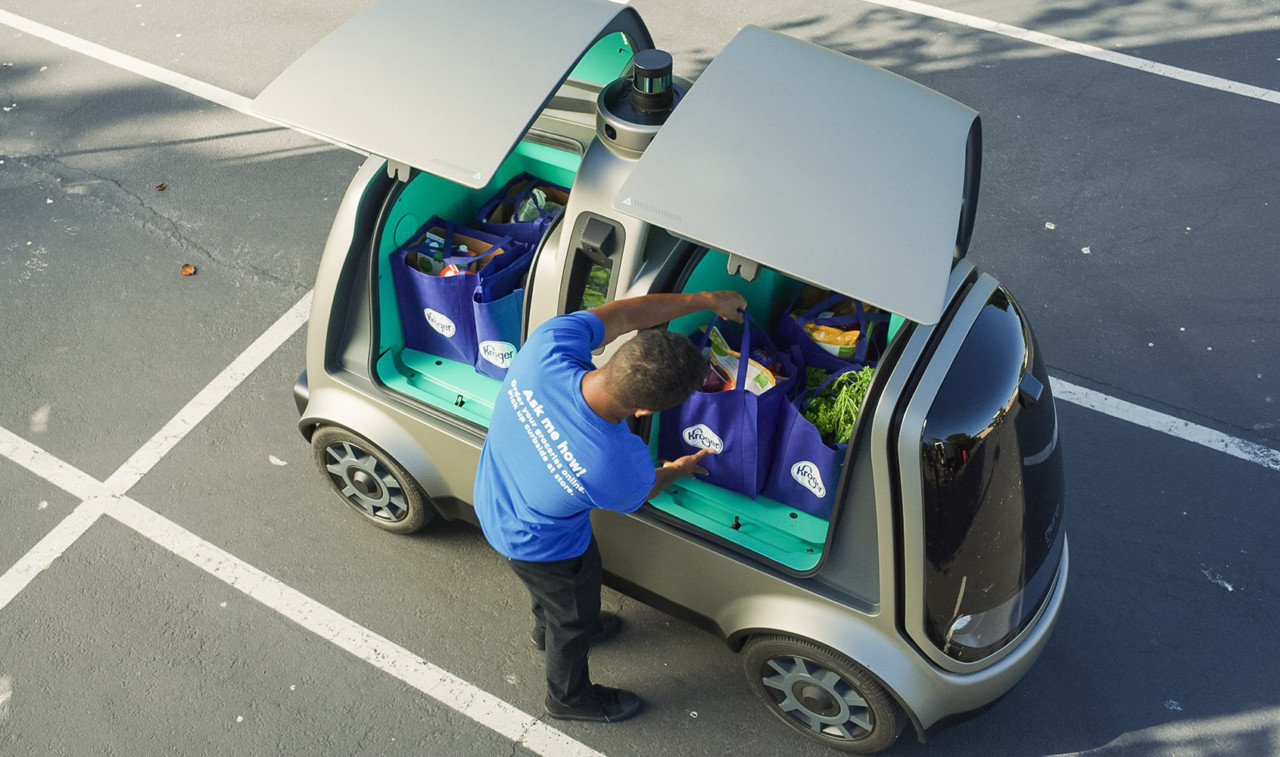 This Cute Self-Driving Car May One Day Deliver Your Groceries - Design Milk