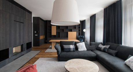 A Modern Flat in Prague Full of Natural and Black Stained Woods