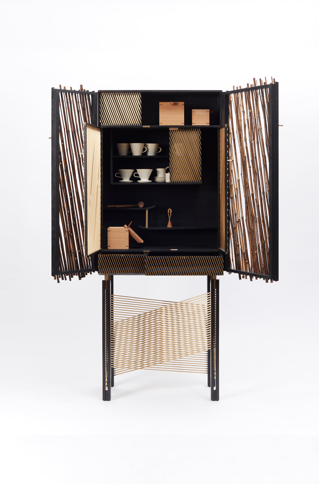 A Shadow-Inspired Drinks Cabinet by Hugh Miller Furniture