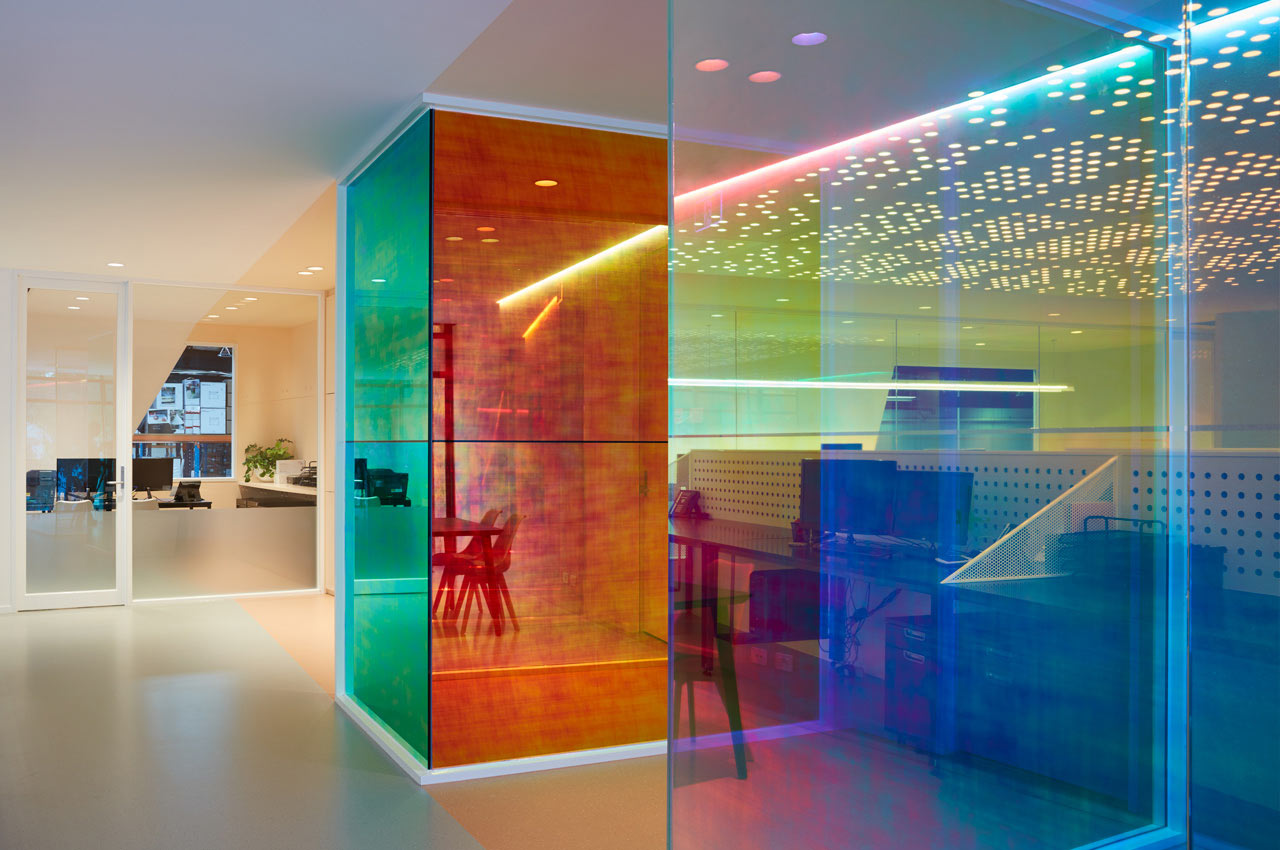Ambience Designs An Office For Studio Y That Produces An Evolving  Kaleidoscope Of Color All Day ...